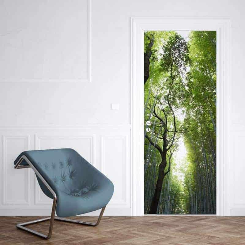 Deursticker bamboe oerwoud