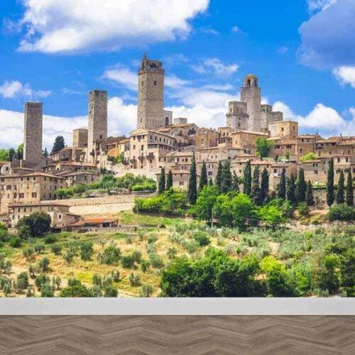 Fotobehang landschap Toscane