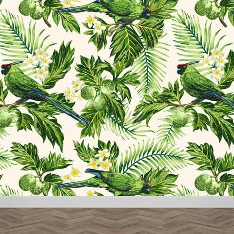 Fotobehang papegaaien patroon