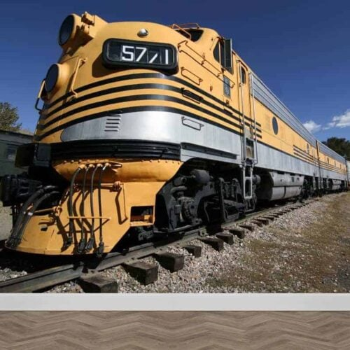 Fotobehang Amerikaanse trein
