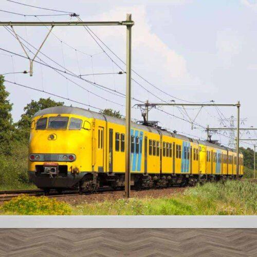 fotobehang trein
