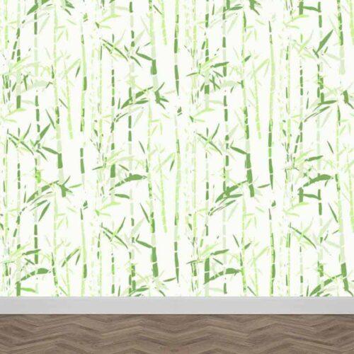 Fotobehang bamboe illustratie