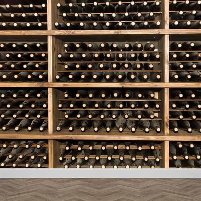 Fotobehang wijnflessen