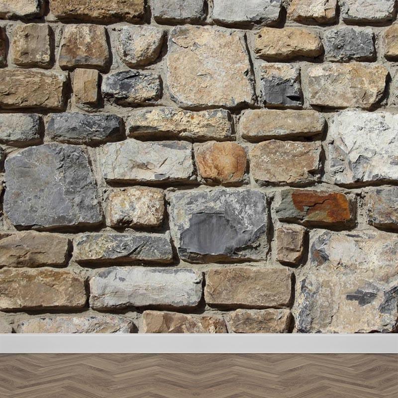 Foto Op De Muur.Fotobehang Stenen Muur Patroon 2 Gratis Op Maat Gemaakt Youpri Nl