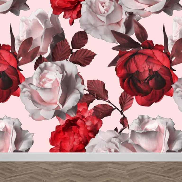 Fotobehang rozen illustratie