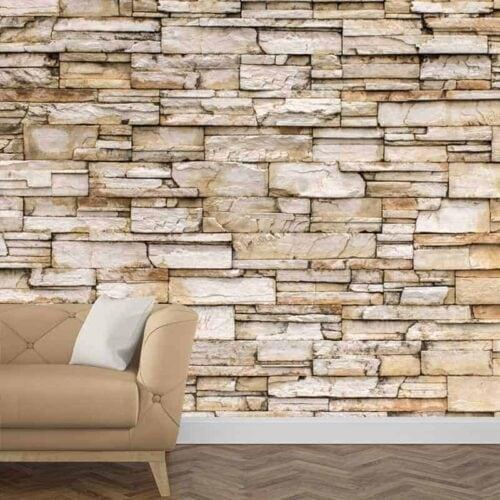 Fotobehang beton grijs gratis op maat gemaakt - Leisteen muur ...