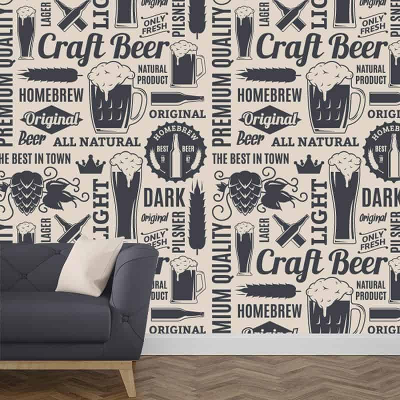 Best fotobehang bier overzicht structuren vliesbehang with for Renovlies zelf aanbrengen