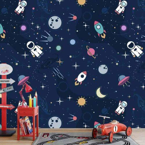 Fotobehang in de ruimte