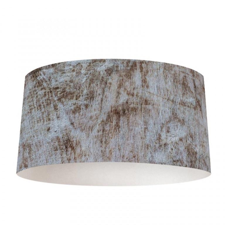 Lampenkap houtstructuur wit