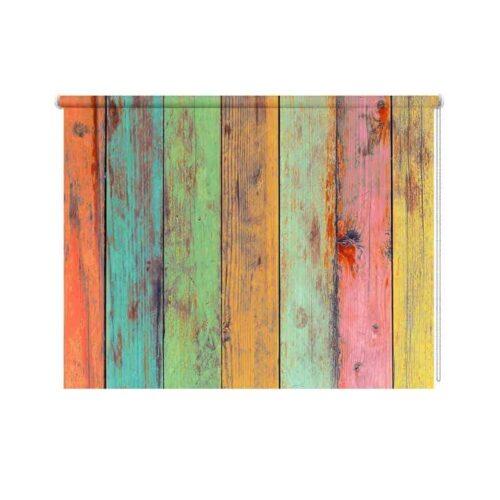 Rolgordijn Gekleurd steigerhout