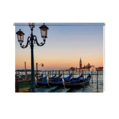 Rolgordijn Gondels in Venetie