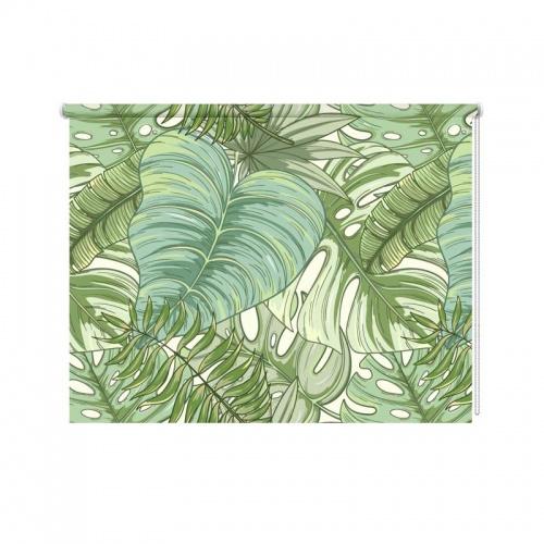 Rolgordijn Tropische bladeren patroon 3