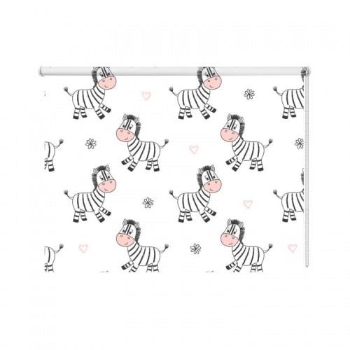 Rolgordijn Grappige zebra patroon