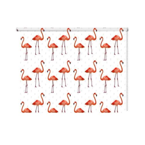 Rolgordijn flamingo patroon 3