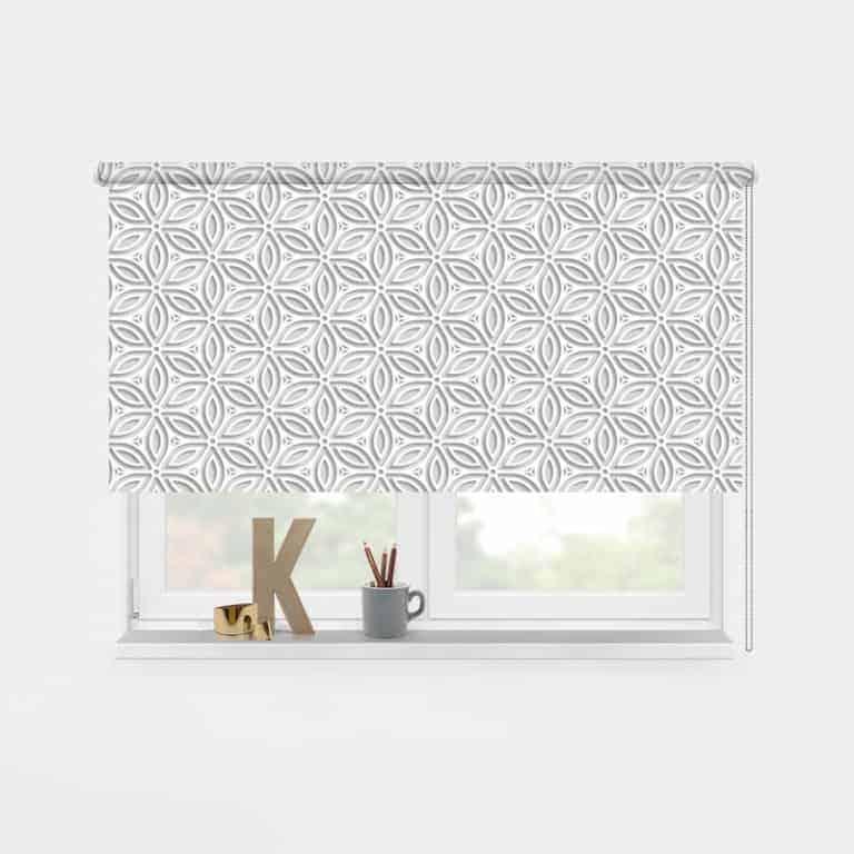 Rolgordijn origami patroon