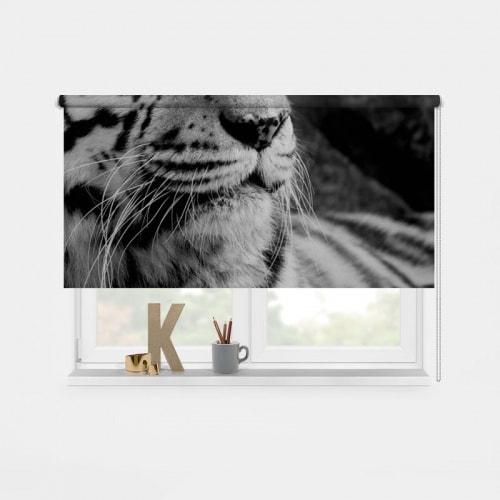 Rolgordijn tijger zwartwit