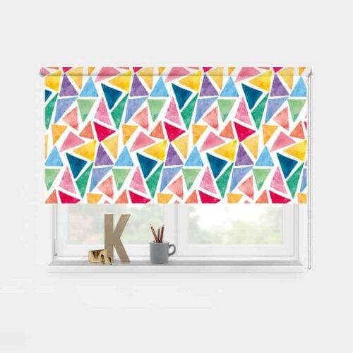 Rolgordijn mozaïek pastel patroon