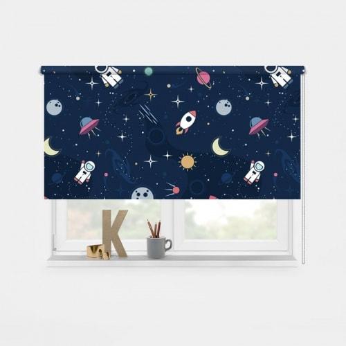 Rolgordijn In de ruimte