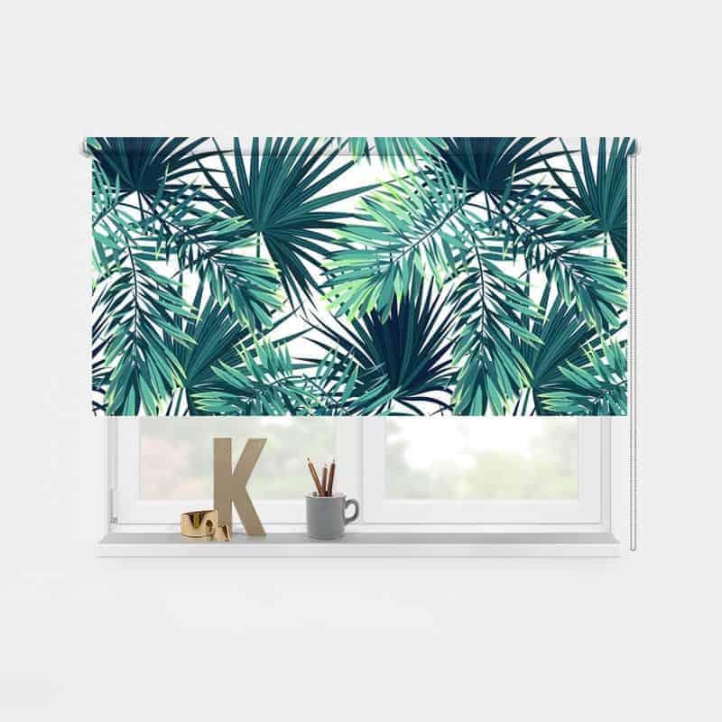 Rolgordijn tropische bladeren patroon 2