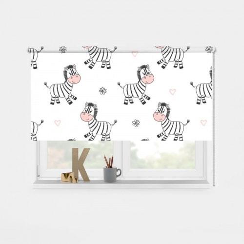 Rolgordijn Zebra patroon