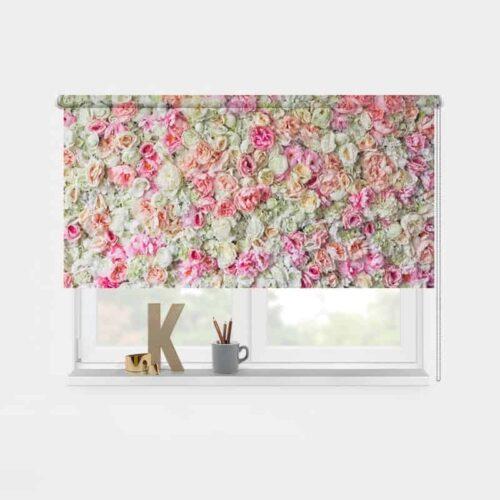 Rolgordijn Op rozen 1