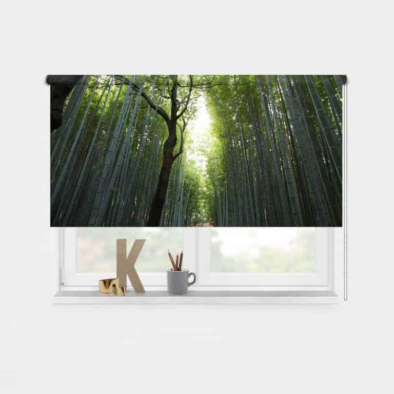 Rolgordijn Bamboe oerwoud
