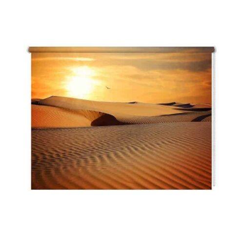 Rolgordijn In de woestijn