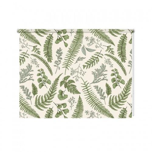 Rolgordijn groene bladeren patroon 6