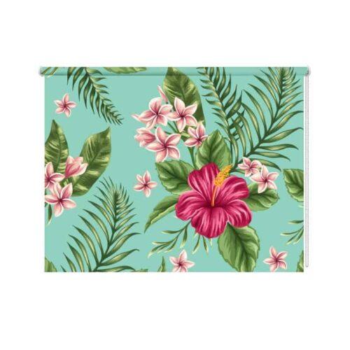Rolgordijn tropical flowers
