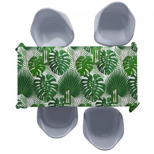 Tafelkleed Palmbladeren patroon