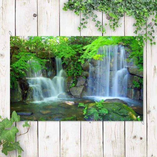 Tuinposter Duo waterval