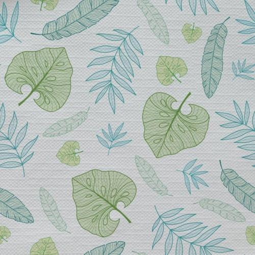 Tafelkleed Bladeren patroon mint groen