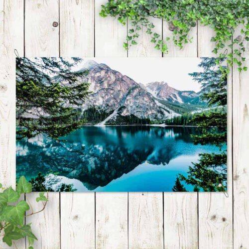Tuinposter bergmeer