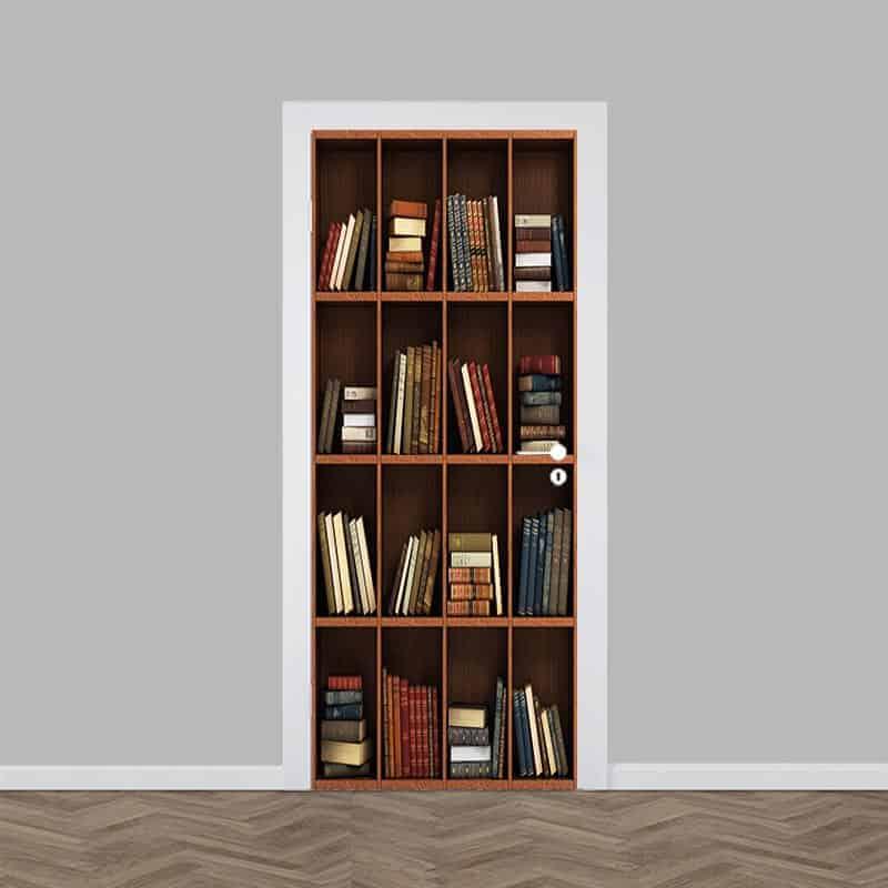 Deursticker Boekenkast. Een snelle \'make over\' voor je deur. YouPri.nl