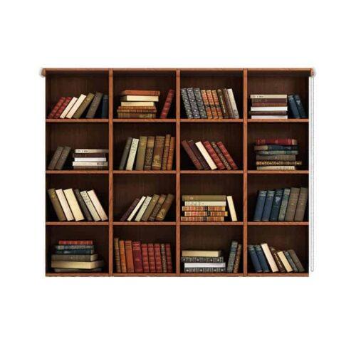 Rolgordijn boekenkast