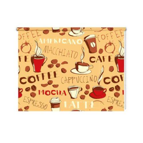 Rolgordijn koffietijd