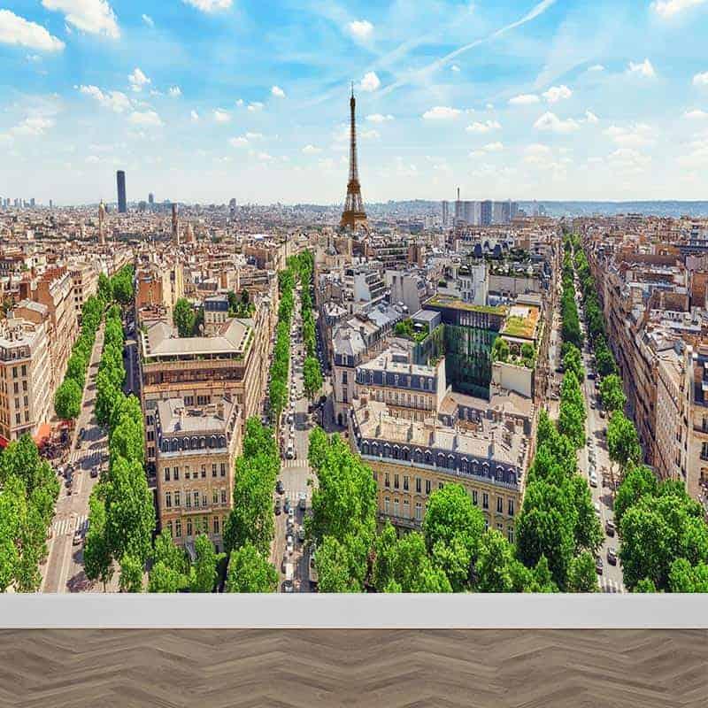 Fotobehang Parijs panorama