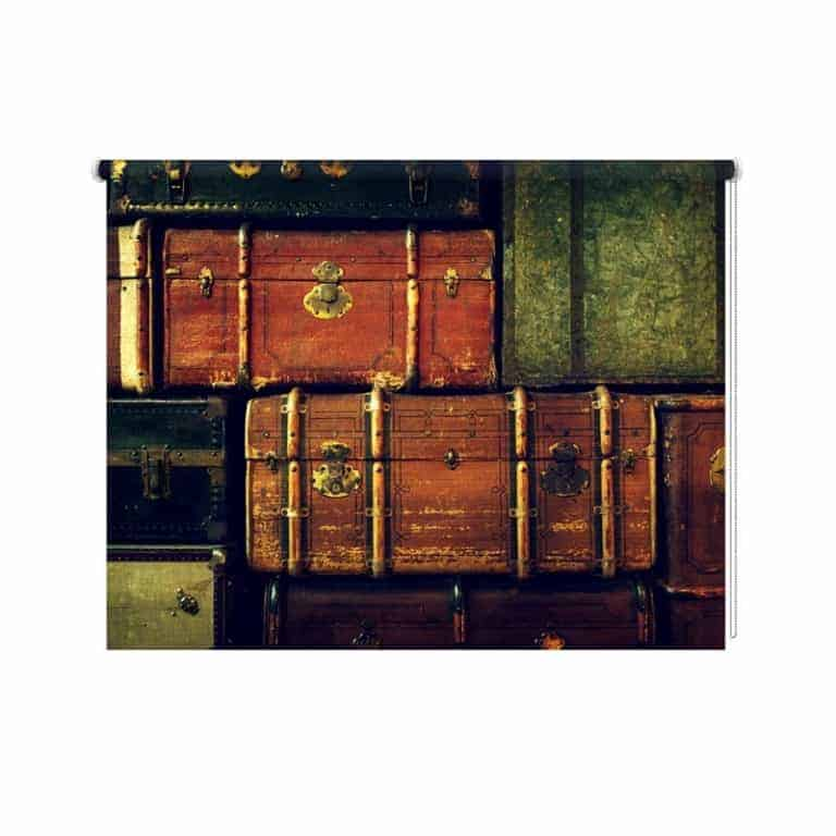 Rolgordijn Vintage koffers