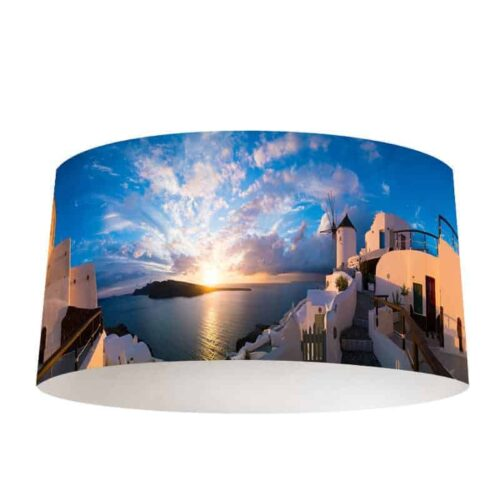 Lampenkap Zonsondergang Santorini