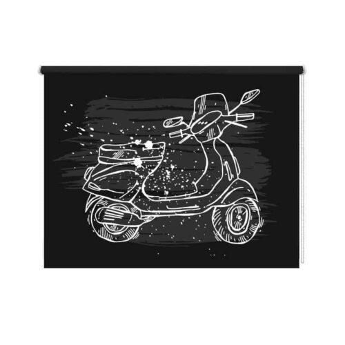 Rolgordijn op de scooter