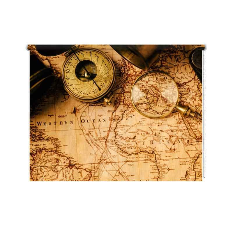 Rolgordijn vintage kaart