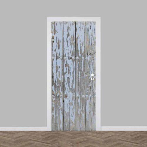 Deursticker hout patroon 4