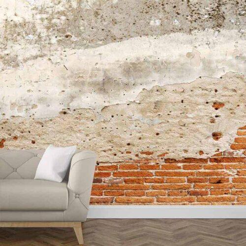 Fotobehang baksteen patroon 5