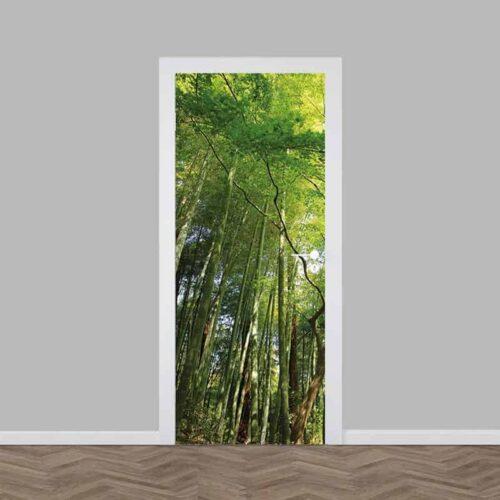 Deursticker In het bamboebos