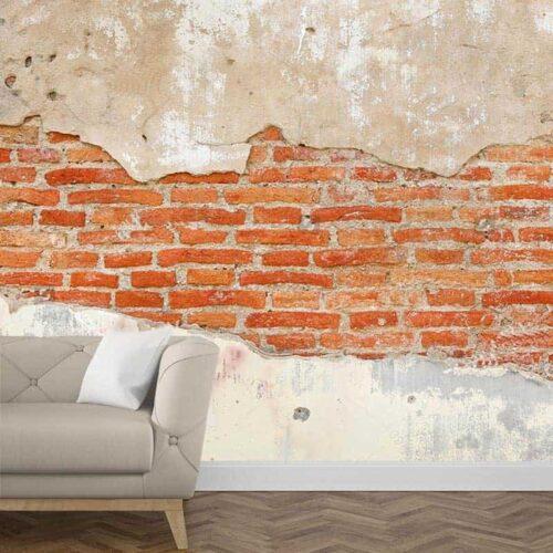 Fotobehang baksteen patroon 4