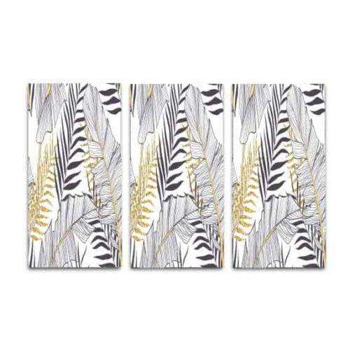 drieluik-canvas-bananen-bladeren