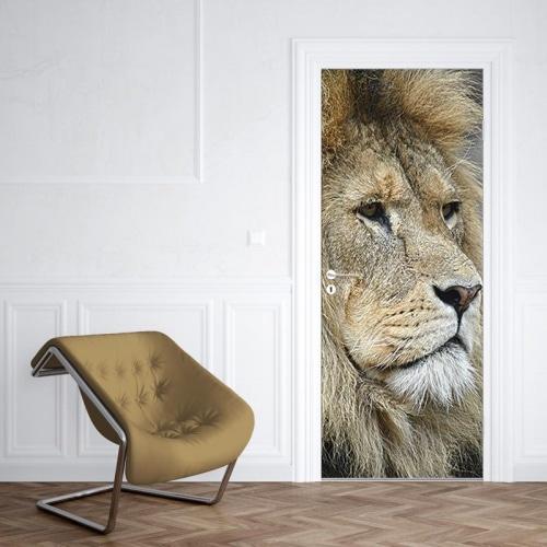 Deursticker Koning van de jungle