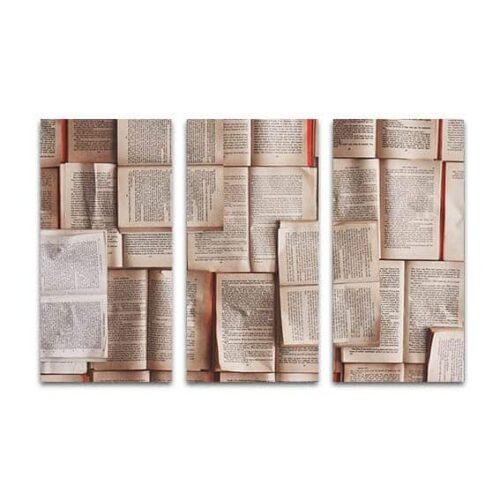drieluik canvas bladzijden