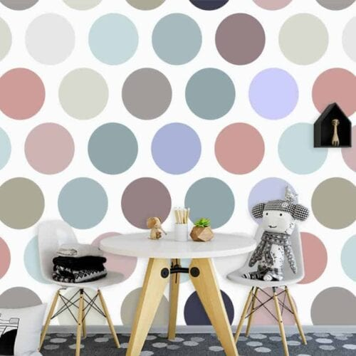 Fotobehang-pastel-stippen-patroon