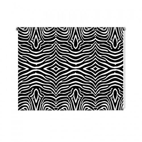 Rolgordijn zebra patroon zwartwit